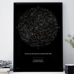 Personalised Night Sky Print 40x50cm