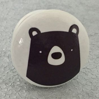 Children's Bear Face Furniture Knobs, Door Knobs
