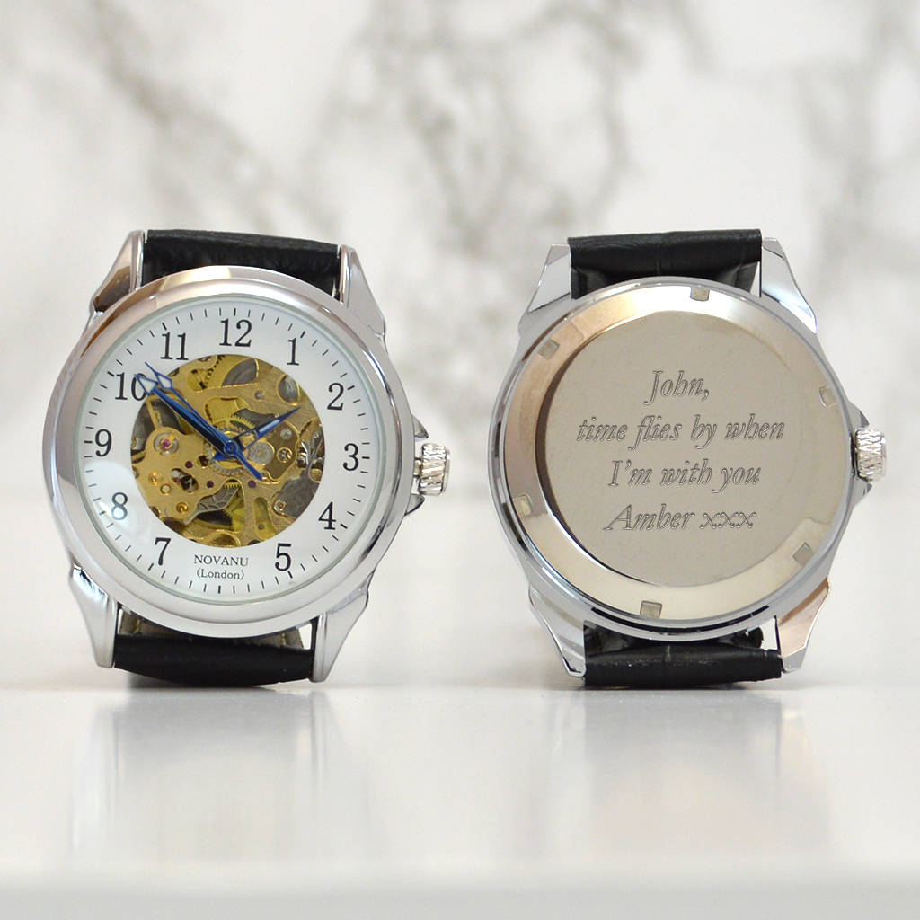 strap engraving s from item black elegant wind gold hollow winner watches in skeleton mechanical men watch self automatic leather