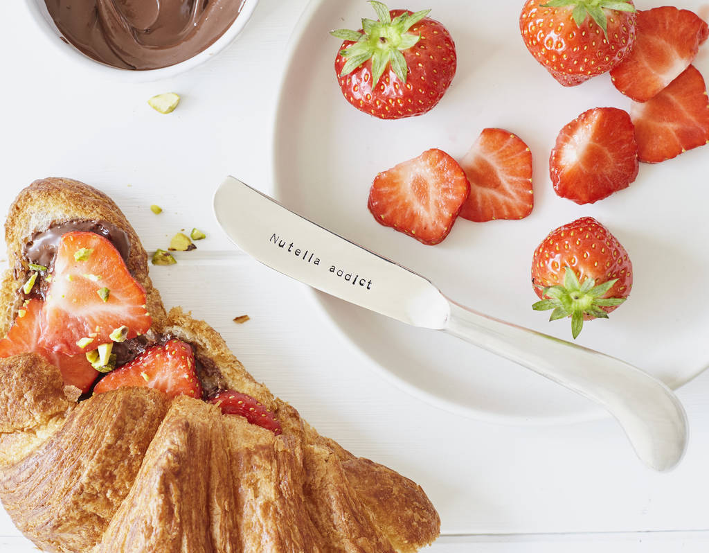 Personalised Silver Plated Nutella Knife