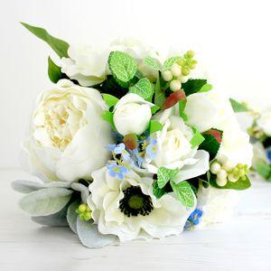 For Get Me Not Artificial Bridal Bouquet - flowers, bouquets & button holes