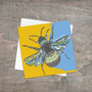 Patterned Bee Card With Title Fly Like A Butterfly