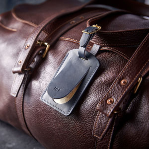 Personalised Leather Traditional Luggage Tag