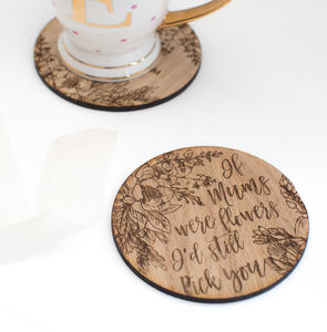 'Mum's Are Like Flowers' Coaster - coasters