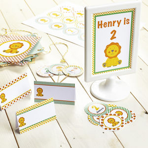 Safari Personalised Children's Party Decoration Pack