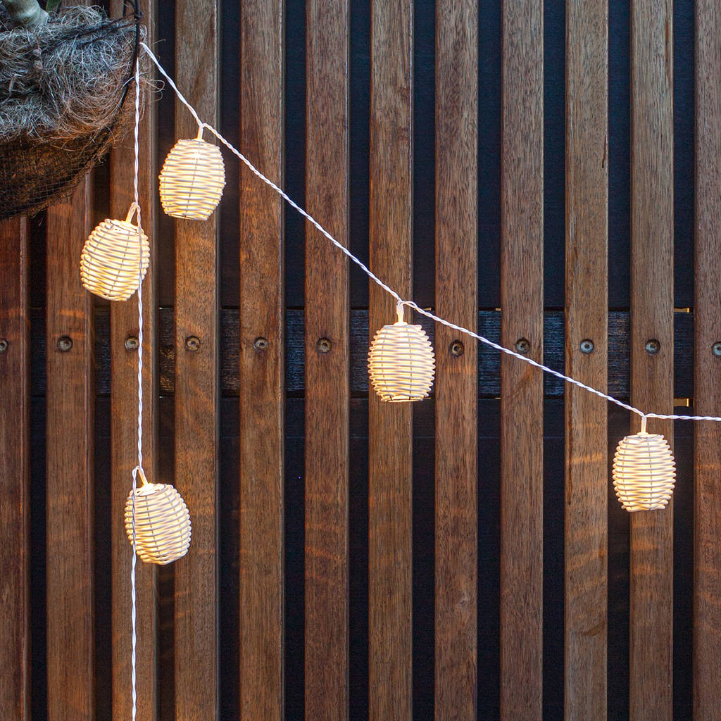 Rattan Lantern Solar Fairy Lights