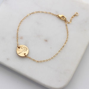 Botanical Gold Disc Bracelet Dandelion - view all new