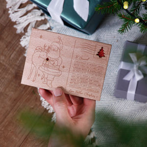 'Letter From Santa' Wooden Postcard