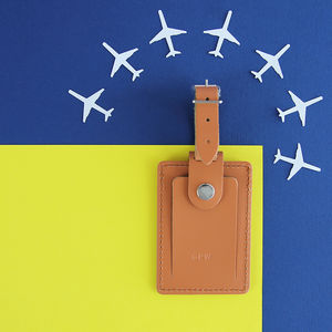 Personalised Luggage Tag Gift - 3rd anniversary: leather