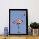 Margo The Flamingo Print