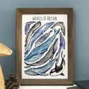 Whales Of Britain Wildlife Watercolour Print