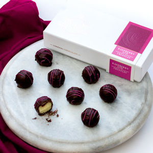 Raspberry Gin Chocolate Truffle Gift Box - gifts for her sale