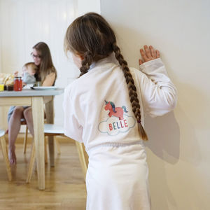 Personalised Children's Unicorn Dressing Gown - clothing