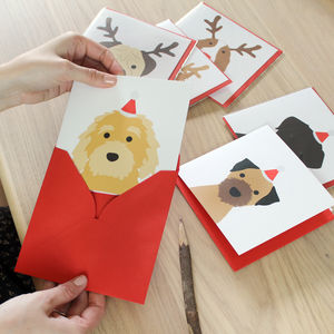Christmas Dog Card, Multiple Breed Options - sale by category