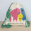 Children's Monster Themed Drawstring Bag