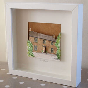 Personalised House Paper Cut - limited edition art