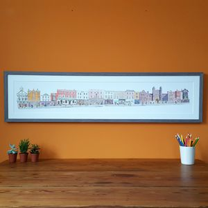 Guildford High Street Limited Edition Print - maps & locations