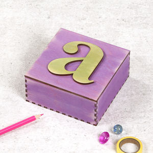 Personalised Letter Birthday Jewellery Keepsake Box