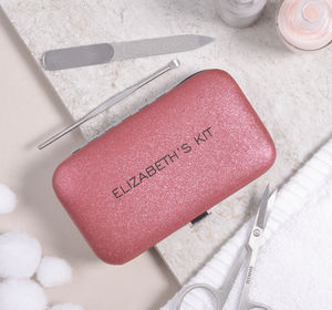 Personalised Mini Manicure Set For Her Ruby Red