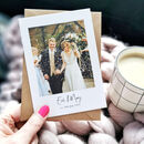 Personalised Wedding Photo Thank You Postcard