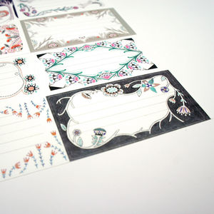 Botanic And Geometric Parcel Labels - stickers & stamps