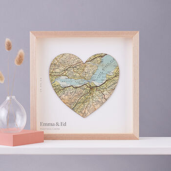 Personalised Map Location Heart Wedding Print Gift