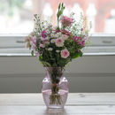 Pink Haze Garden Flower Box With Free Vase