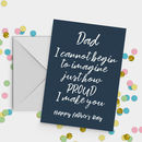 Proud Dad Funny Father's Day Card A5