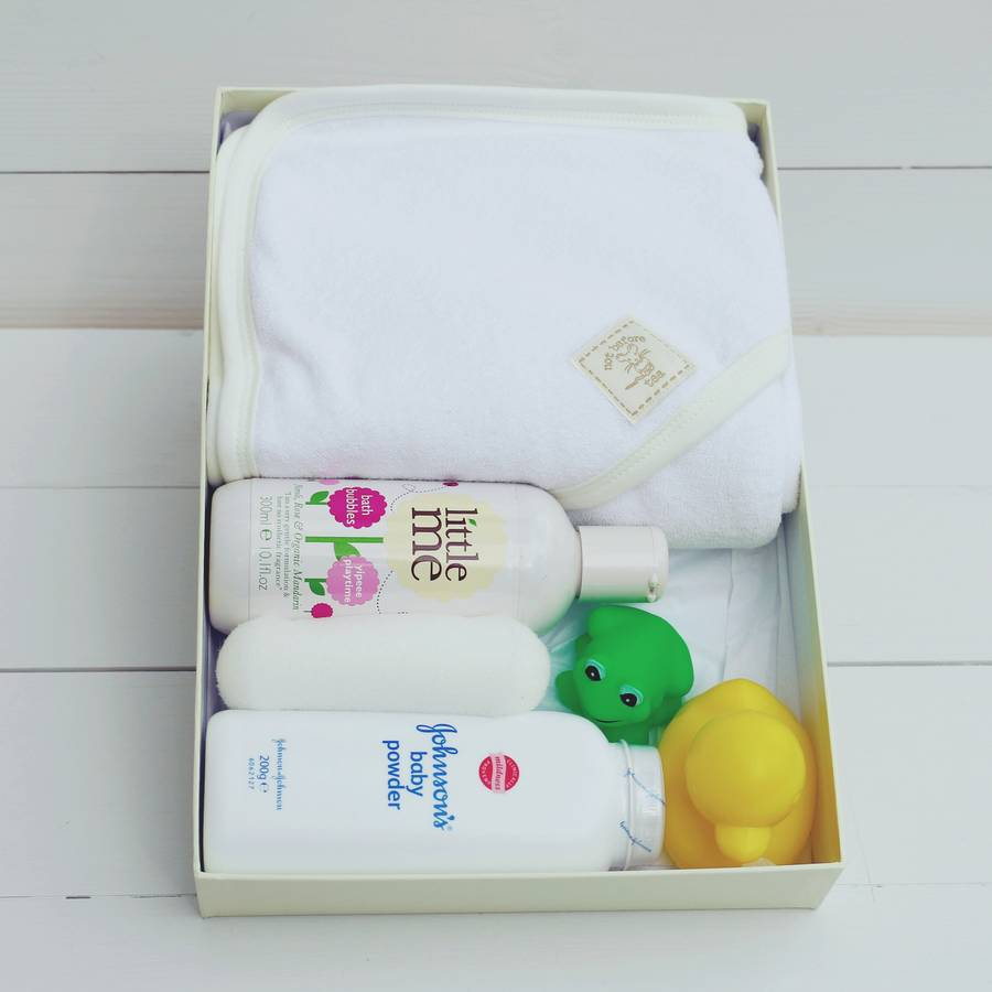 Baby Gift Bath Sets : New baby bath box gift set by not before tea
