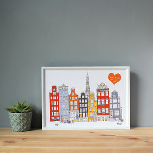 Amsterdam Personalised Print For Wedding Or Engagement