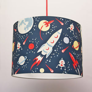Space Rockets Handmade Paper Lampshade