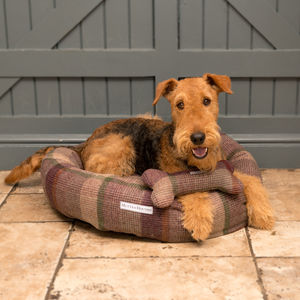 Luxury Tweed Donut Dog Beds - beds & sleeping