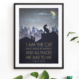 'I Am The Cat' Art Print