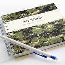 Personalised Camouflage Teacher Notebook