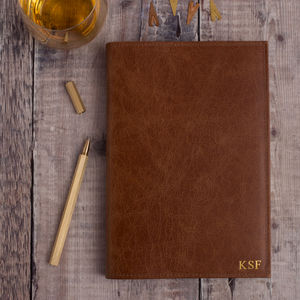 Personalised Refillable Journal In Luxury Leather