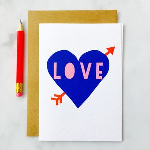 'Love' Tattoo Card - engagement cards