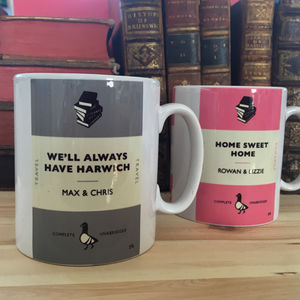 Personalised Book Cover Mug - gifts for mothers