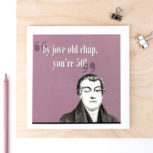 50th Birthday Card 'By Jove You're 50' - birthday cards