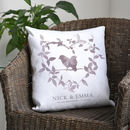 Anniversary Special Date Keepsake Watercolour Homeware cushion