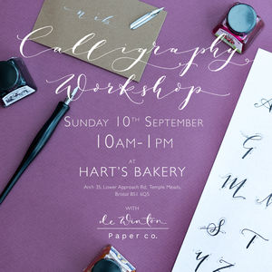 Modern Calligraphy Beginners Workshop At Hart's Bakery - experiences