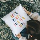 'Let's Party Like It's…' Personalised Year Cushion
