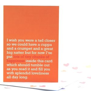 'Lots Of Tiny Chunks Of Happiness' Card - blank cards