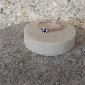 Raw Stone Stacking Ring: Lapis Lazuli