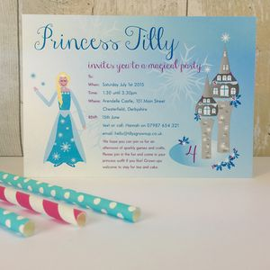16 Ice Queen Skating Party Invites Or Thank You Cards