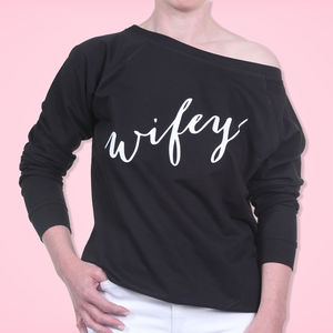 Personalised Wifey Slouch Jumper