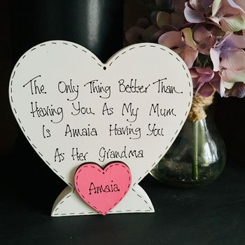Mother / Grandmother Personalised Freestanding Heart