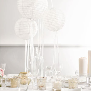 Set Of Three Paper Lanterns - room decorations