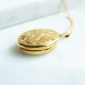 personalised free gold dp any with engraved heart locket name lockets engraving plated necklace
