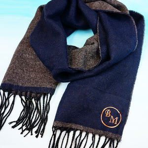 Personalised Men's Monogram Scarf - frequent traveller