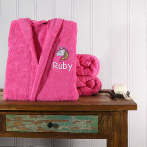 Personalised Girl's Hooded Bathrobe - bath robes